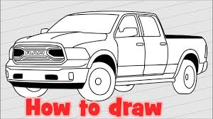How To Draw Truck Dodge Ram 1500 - 2018 Pickup Drawing - YouTube Step 11 How To Draw A Truck Tattoo A Pickup By Trucks Rhdragoartcom Drawing Easy Cartoon At Getdrawingscom Free For Personal Use For Kids Really Tutorial In 2018 Police Monster Coloring Pages With Sport Draw Truck Youtube Speed Drawing Of Trucks Fire And Clip Art On Clipart 1 Man
