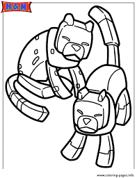 Minecraft Cats Coloring Pages