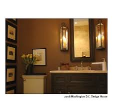 Br Chocolate Brown Bathroom Vanity Creamy Walls And Art
