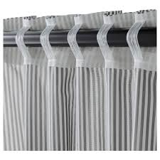 White And Gray Striped Curtains by Gulsporre Curtains 1 Pair Ikea
