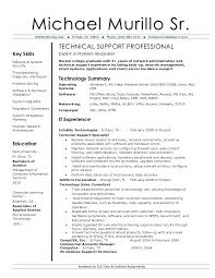 Desktop Support Specialist Resume Examples Marvelous It Technical With