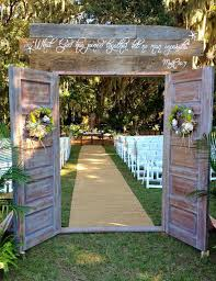 Rustic Wedding Decorations Used An Old Cattle Trough That Was Doors