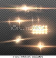 Realistic Vector Sun Flare Transparent Explosion