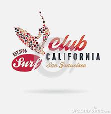 California Surf Typography T Shirt Graphics Logo Club Vector Illustration