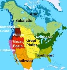 Map Showing Native American Indians Cultural Groups