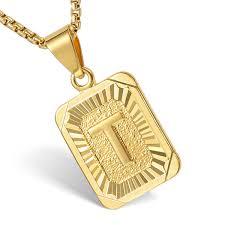 Letter Pendant Necklace Jewelrymakestyleme