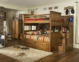 Twin Over Full Bunk Bed With Desk And Stairs — All Home Ideas And