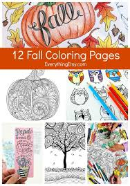 12 Fall Coloring Pages For Adults