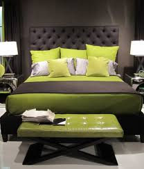 Black Leather Headboard Queen by Bedroom Delectable Black Grey And Green Bedroom Decoration Using