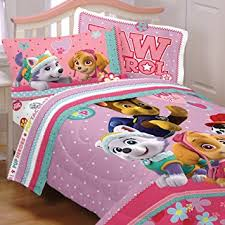 Amazon 4pc Paw Patrol Twin Bedding Set Best Pup Pals Skye and