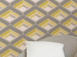papier peint corona blanc crème jaune gris gris clair pailleté