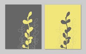 Yellow And Gray Chevron Bathroom Accessories by Yellow And Gray Bathroom Art Home Decor Prints Seaweed