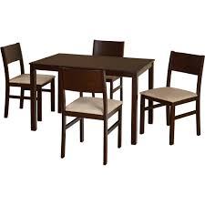 Patio Dining Chairs Walmart by Dining Room Sophisticated Dark Brown Amazing Kitchenette Sets And