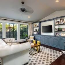 Inspiration For A Large Transitional Open Concept Dark Wood Floor And Brown Living Room Remodel
