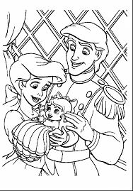 Wonderful Ariel Little Mermaid Coloring Pages With Mermaids And Pdf