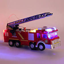 100 Pink Fire Truck Toy Engine Red With Water Cannon Lights Sound Kids