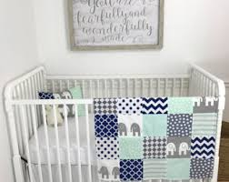 Mint Green Crib Bedding by Simply Handmade Goods By Theredpistachio On Etsy