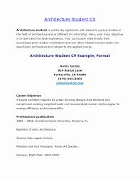 Architect Resume Samples Inspirational Cover Letter For Architecture Regarding Template Student