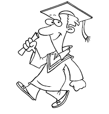 Graduation Man Walking Confidently Coloring Pages PagesFull Size