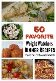 cuisine ww 50 favorite weight watchers dinner recipes w points plus
