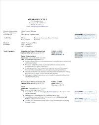 Example Of Government Resume For Jobs Federal Sample