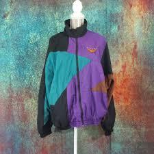 Nike Flight Windbreaker Vintage Mens Large Retro 90s Hip Hop ColorBlock Nylon 80s Jacket Streetwear Clothes