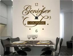 details zu wandtattoo uhr genießer lounge wandaufkleber wanduhr retro küchenuhr
