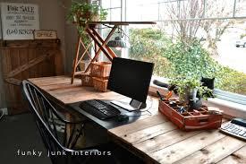 Diy Wood Computer Desk by Pallet Farm Table Desk Part 3 The Reveal Funky Junk
