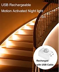3 motion sensor lights stairs path led automatic