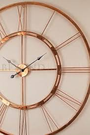 Large Wall Clock 101cm COPPER BERTHA Metal Industrial Vintage French Provincial