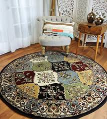 Round Rugs 6ft Multi Color Rug Circle For Living Room And Dining