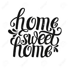Hand Lettering Typography PosterCalligraphic Quote Home Sweet HomeFor Housewarming Posters
