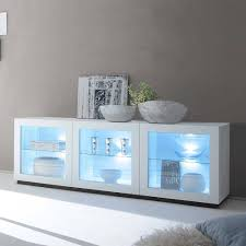 glas sideboard in weiß led beleuchtung jetzt bestellen unter