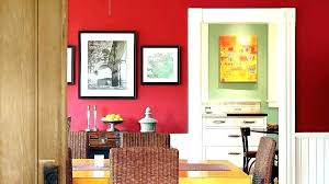 Red Walls In Dining Room Accent Wall Living