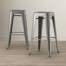 100 Modern Metal Chair BELLEZE 30inch Bar Stools Barstool Stool Set Of 6