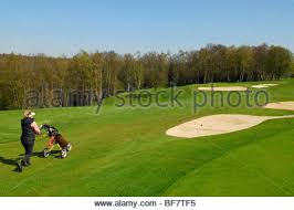 golf course of mont aignan 76 stock photo royalty free