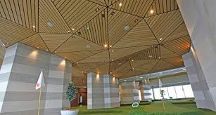 Rulon Wood Grille Ceiling by Stylish Wood Ceiling Panels Collection From Hunted Douglas Arch