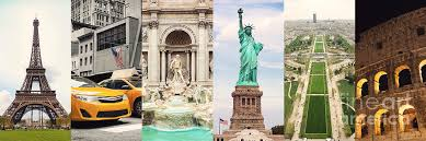 Travel Collage Of Famouse Places Photograph By Antonio Gravante