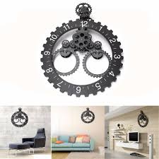 Modern Contemporary Mechanical Large Gear Wall Art Clock With