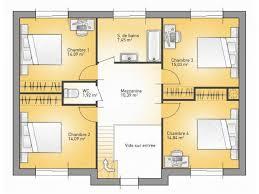 plan maison 4 chambres etage plans de maison 1er étage du modèle city maison moderne à étage