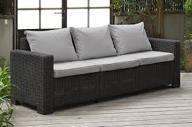 Keter Lounge Chairs Grey by Allibert By Keter California 3 Seater Rattan Sofa Outdoor Garden