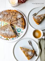 apfelkuchen mit walnüssen mandeln kopfüber gebacken