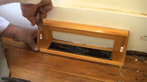 Ceiling Ac Vent Deflectors by How To Install A Heat Vent Cover Youtube