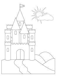 Cinderella Coloring Sheets Castle Pages