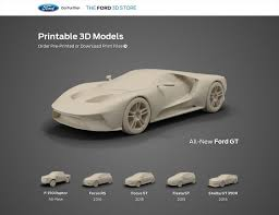 100 Resin Model Truck Parts Ford Launches Online 3D Printed Car Shop Print Your Favorite