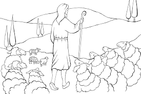 Holiday Coloring Pages Shepherd And Sheep Page Il Buon Pastore La Parabola Di