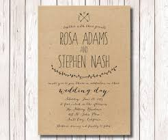 Rustic Wedding Invitation Kraft Paper Printable DIY The Capistrano Collection