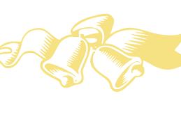 Gold Wedding Bells Clip Art