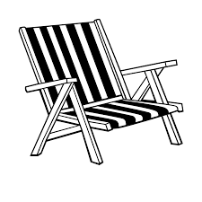 Furniture Coloring Pages Beach Chair