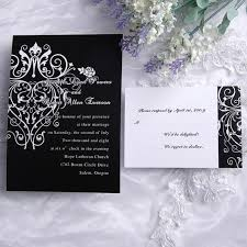 1 Cheap Classic Black And White Chandelier Scorll Wedding Invitations EWI120